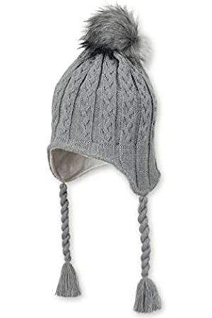 Sterntaler Strickmütze für Mädchen mit Kunstfell-Bommel und Zopfbändern, Gefüttert, Alter: 4-6 Jahre, Größe: 55