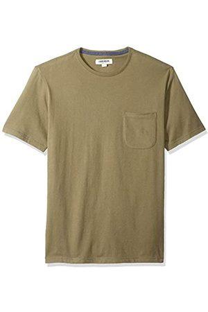 Goodthreads Amazon-Marke: Herren-T-Shirt Kurzarm mit Rundhalsausschnitt, aus Jersey in Wildlederoptik, Olive