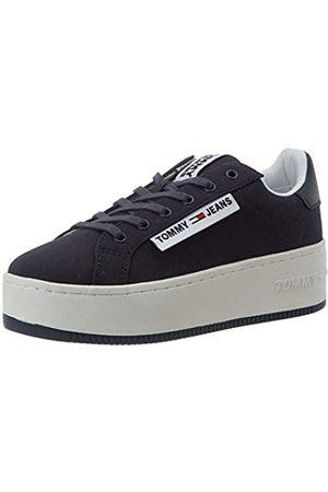 Tommy Hilfiger Damen Oversized Label ICON Sneaker, (Twilight Navy C87)