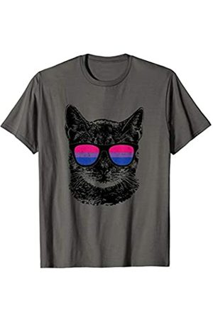 Equal Rights Gay Bisexual Tshirt Designs Bisexuelle Gay Pride Cat LGBT Sonnenbrille T-Shirt