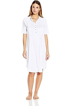 Hanro Damen Nachthemd 1/2 Arm 100 cm Cotton Deluxe (0101 white)