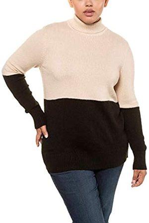 Ulla Popken Damen Color Blocking Pullover