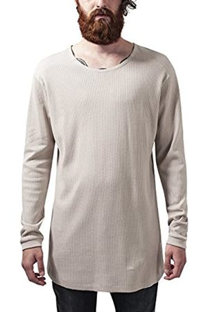 Urban classics TB1103 Herren Langarmshirt Shaped Waffle Long Sleeve Tee