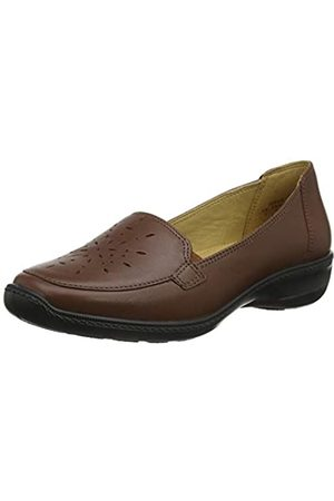 Hotter Damen Topaz Extra Wide Slipper, (Dark Tan 21)