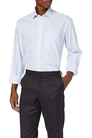 Seidensticker Herren Comfort Langarm mit Business Kent-Kragen Bügelfrei Gestreift-100% Baumwolle Businesshemd