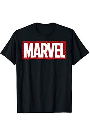 Marvel Scribbled Box Outline Logo T-Shirt