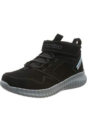Skechers Boys' Gore & Strap Retro Sneake Trainers, Black (Black Synthetic/Trim Blk)