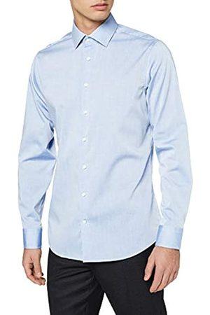 Seidensticker Herren Business Tailored Fit - Bügelfreies, Schmales Hemd mit Kent-Kragen - Langarm - 100% Baumwolle Businesshemd