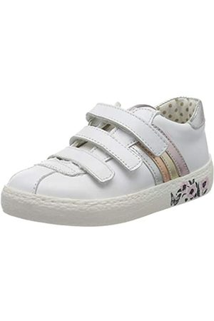 Primigi Mädchen Scarpa Bambina Sneaker, (Bianco/Argento 5433544)