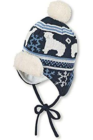 Sterntaler Mütze für Jungen mit Bommel und Eisbär-Motiv, Gefüttert, Alter: 5-6 Monate, Größe: 43