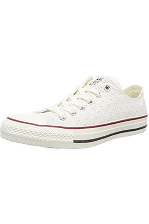 Converse Unisex-Erwachsene CTAS OX Sneaker, (White/Garnet/Athletic Navy 102)