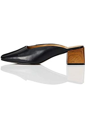 FIND Amazon-Marke: Close Toe Mule Pumps, (Black)