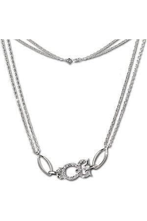 SilberDream Damen Halskette 925 Sterling Silber Zirkonia 44.0 cm VSDK424W