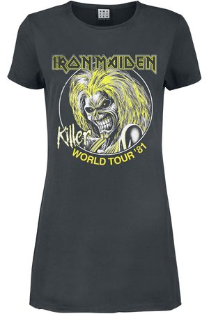 Iron Maiden Damen Freizeitkleider - Amplified Collection - Killer World Tour 81' Kurzes Kleid charcoal