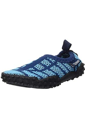 Playshoes Unisex-Kinder Strick Aqua Schuhe, (Marine/Hellblau 639)