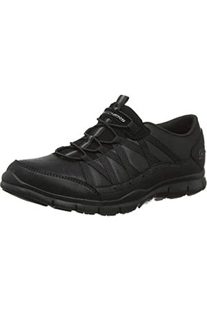 Skechers Women's GRATIS - FINE TASTE Slip On Trainers, Black (Black Micro Leather/Trim Bbk)