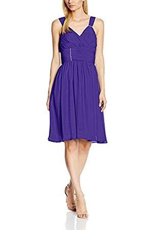 Astrapahl Damen Cocktail Kleid mit verzierenden Applikationen, Knielang, Einfarbig