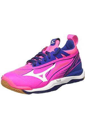 Mizuno Damen Wave Mirage W Gymnastikschuhe, (Pink Glo/White/True Blue)