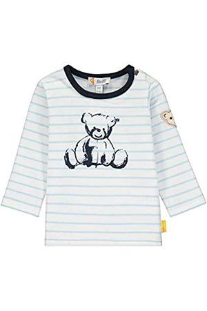 Steiff Baby-Jungen mit Streifen und Teddybärprint Langarmshirt