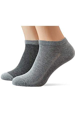 Levi's Herren LEVIS 168SF LOW CUT MICRO STRIPE 2P Socken, Mehrfarbig (Anthracite Melange/Black 267)