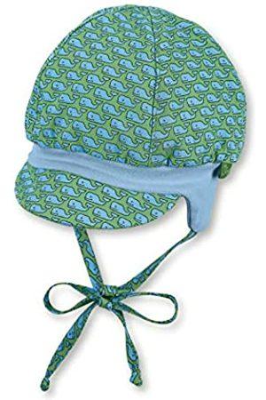 Sterntaler Ballonmütze für Jungen mit Bindebändern, Ohrenklappen und Muster mit Wal-Motiven, Baumwolle, Alter: 4-5 Monate