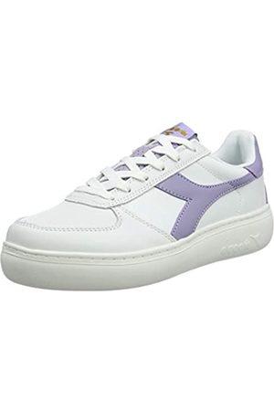 Diadora Damen B.Elite Wide Sneaker, (Bianco Candido/Viola Milk C7903)