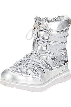 KangaROOS Damen K-Wowi Jog RTX Schlupfstiefel, Mehrfarbig (Silver)