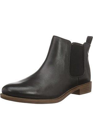 Clarks Damen Taylor Shine Chelsea Boots, (Black Leather)