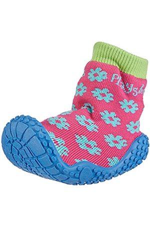 Playshoes Aqua-Socke Badeschuhe Blume 174805, Mädchen Aqua Schuhe, Pink (original 900)