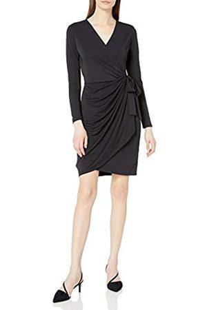 Lark & Ro Long-Sleeve Wrap Dress Kleid