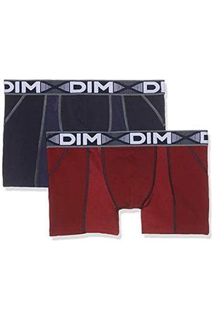 Dim Sous-vêtements Homme Herren 3D Flex Air Boxer X2 Boxershorts, Mehrfarbig (Rouge Craie/Bleu Denim 8nw)
