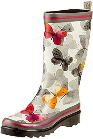 Beck Damen Schmetterling Gummistiefel, Mehrfarbig (Multicolor 50)