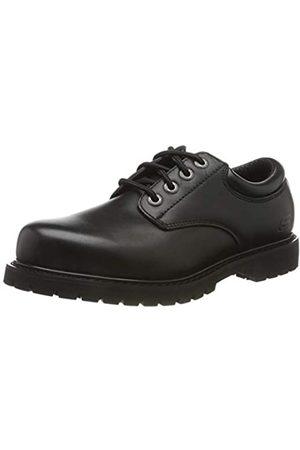 Skechers Men's COTTONWOOD ELKS Oxfords, Black (Black Leather Blk)