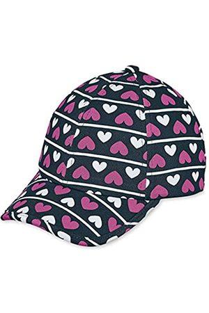 Sterntaler Baseball-Cap für Mädchen mit Größenregulierung und Herz-/Streifenmuster, Alter: ab 7 Jahre, Größe: 57