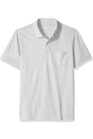 Amazon Herren-Poloshirt, schmale Passform, mit Brusttasche, aus Jersey, Light Grey Heather