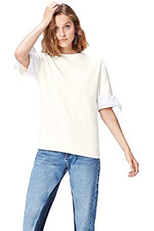 FIND Sweatshirt Damen mit Schluppen und halblangen Ärmeln
