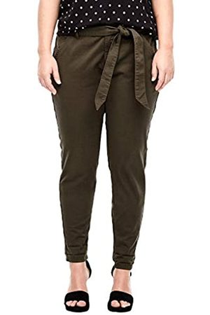 s.Oliver Damen Relaxed Fit: Tapered leg-Twillhose brown 42.32