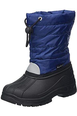 Playshoes Gefütterte Kinder Winterstiefel, warme Schneestiefel mit Innenfutter , (11 marine)