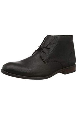 Clarks Herren Flow Top Chukka Boots, (Black Leather Black Leather)
