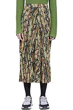 TOM TAILOR Womens Midi Plissee Casual Skirt