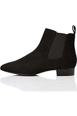 FIND Simple Chelsea Boots, Black)
