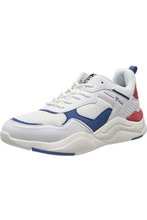 TOM TAILOR Herren 8085101 Sneaker, Mehrfarbig (White-Blue-Red 02694)
