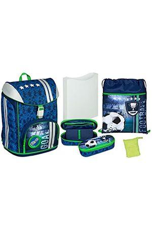 UNDERCOVER Scooli FCPR7552AZ - Schulrucksack mit Heftbox, Turnbeutel, Regenschutzhülle und Schlamperbox, leicht, ergonomisch, Football