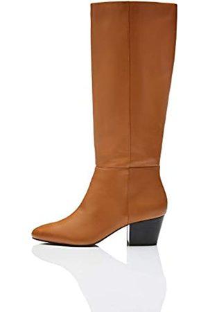 FIND Leather Overknees, Tan)