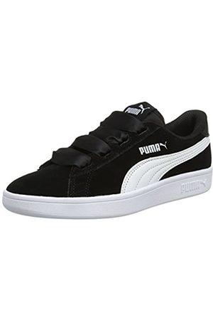 Puma Mädchen Smash V2 Ribbon Jr 366003-01 Sneaker, Black White