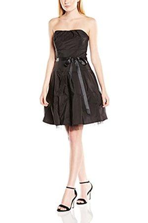 Swing Damen Schulterfreies Petticoat Kleid mit Satinband