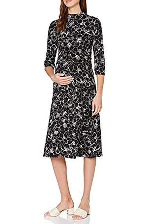 Dorothy Perkins Damen Maternity Black Sketch Floral Print Jersey Midi Dress Kleid