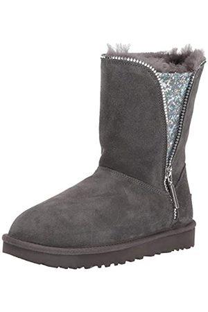 UGG Damen W Classic Zip Boot Hohe Stiefel, (Charcoal Chrc)