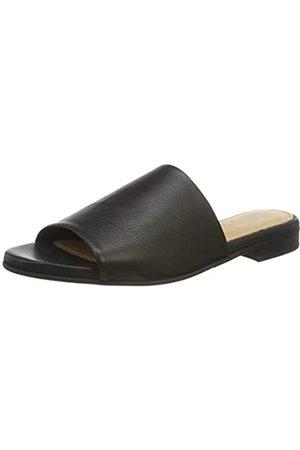 Selected Damen SLFMERLE Leather Mule B Pantoletten, (Black Black)