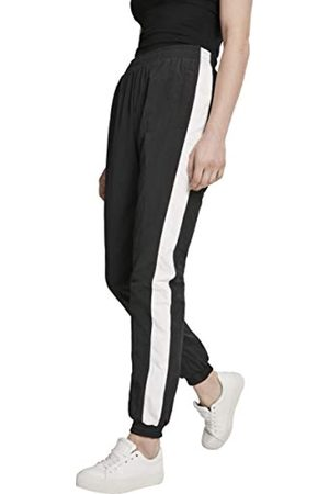 Urban classics Damen Hose Ladies Striped Crinkle Pants, (Blk/Wht 00050)